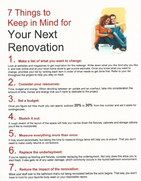 7 things to keep in mind the next time you renovate